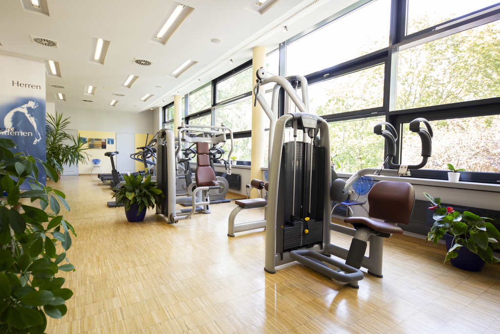 Großzügiges Fitness-Center im Ringhotel Villa Westerberge, 3-star hotel in Aschersleben